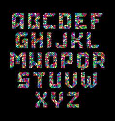 Mosaic alphabet vector