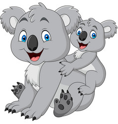 mother and baby koala vector image