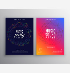 Music party flyer template design with digital vector