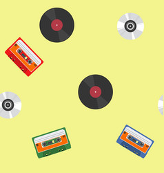 Music themed pattern vector