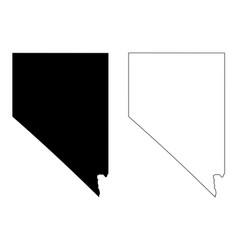 Nevada nv state map usa vector