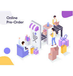 online preorder isometric modern flat design vector image