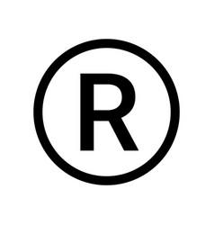 registered trademark logo icon copyright mark vector image