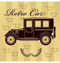 Retro car or background vector image