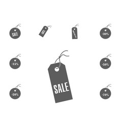 sale icon sale and discount vector image