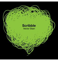 Scribble green bubble vector