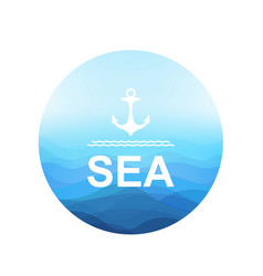 sea poster vector image