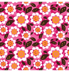 Seamless colourfull flower pattern vector image