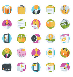 Seo and marketing icons vector