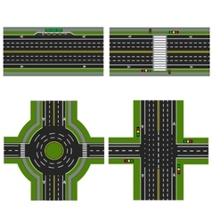 Set of different sections of the highway with a vector