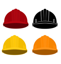 Set of working hard hat vector