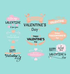 set valentine s day vector image
