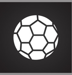 Soccer ball icon on black background for graphic vector