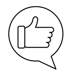 speech bubble with hand like vector image