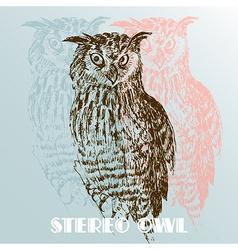 Stereo owl vector
