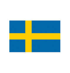 sweden flag pixel art cartoon retro game style vector image