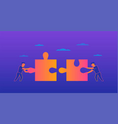 teamwork gradient on violet vector image