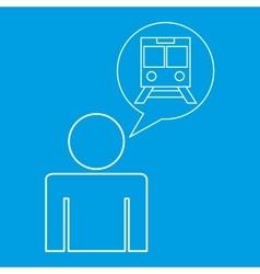 Train station locate destination icon silhouette vector