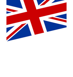 United kingdom flag poster banner vector
