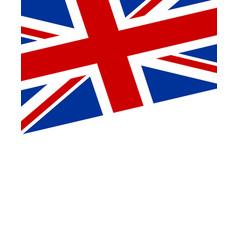 united kingdom flag poster banner vector image
