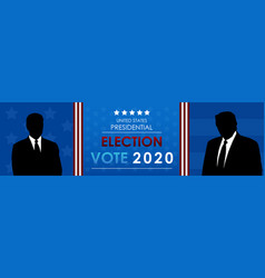 united states presidential election banner 2020 vector image