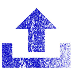 Upload grunge textured icon vector