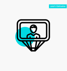 User profile id login turquoise highlight circle vector