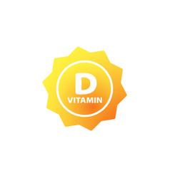 vitamin d icon with sun health care concept on vector image