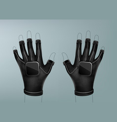 wireless vr gloves vector image