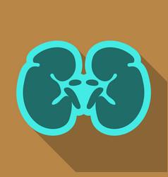 World kidney day card with cute cartoon couple vector