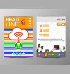 Abstract triangle geometric brochure template map vector