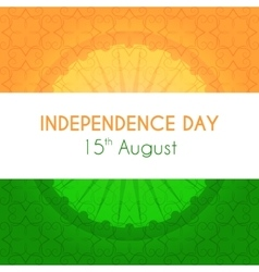 Indian independence day greeting card with vector