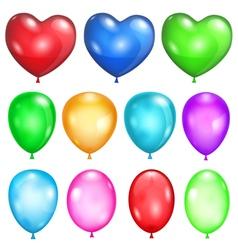 Set of opaque balloons vector image vector image