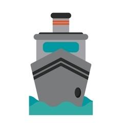 Steam boat ship transport vector