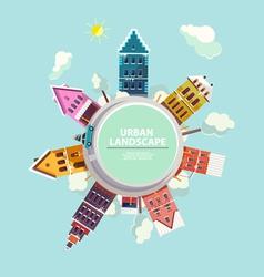 Winter urban landscape vector image vector image