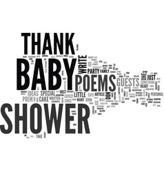 baby shower thank you poems special gifts from vector image vector image