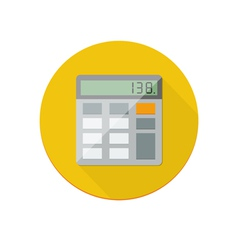 Calculator icon vector image vector image