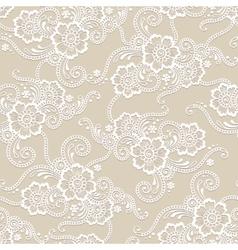 Flower seamless ornament vector image