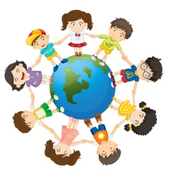 Kids of the world vector image vector image