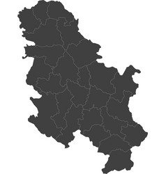 map of serbia split into regions vector image vector image