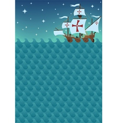 sailboat background vector image
