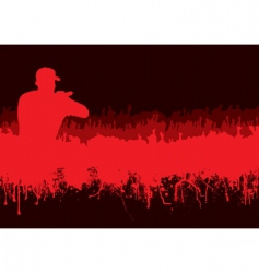 silhouette rock concert crowd vector image
