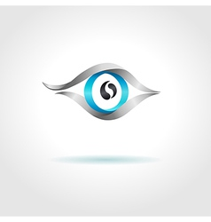 Abstract blue eye on gray background vector image vector image