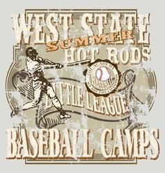 baseball eastern vector image vector image