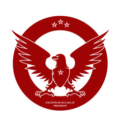 heraldic red eagle and stars logo vector image