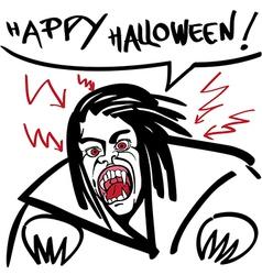 horror vampire vector image vector image