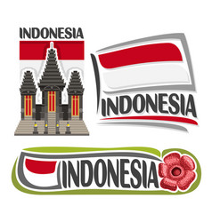 logo indonesia vector image