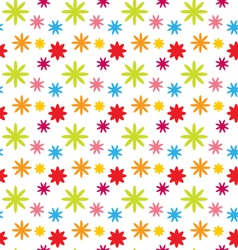 Seamless Floral Kid Texture with Colorful Flowers vector image vector image