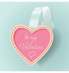 Valentines day vintage sticker vector image vector image