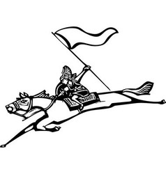 Valkyrie with Flag vector image vector image